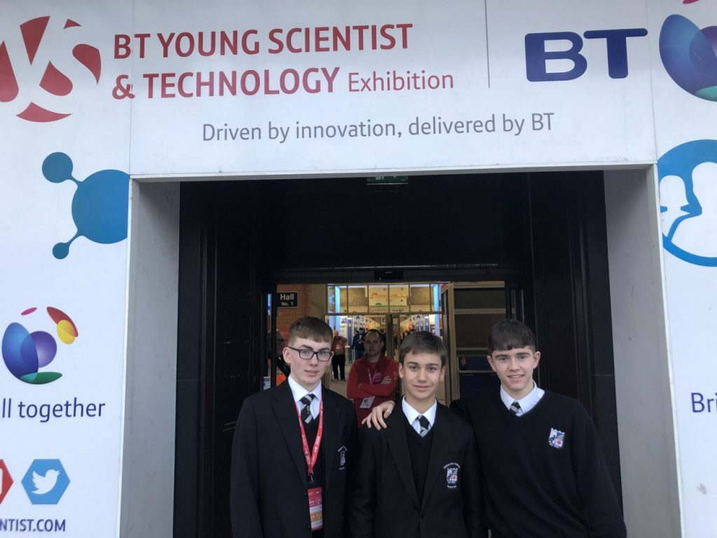 TY students at BT Young Scientist 2020